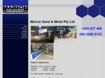 View More Information on Marion Sand And Metal Paving Centre