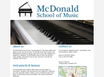 View More Information on McDonald School Of Music