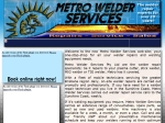 View More Information on Metro Welder Services Pty Ltd