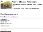View More Information on Norwood Parade Auto Spares