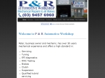View More Information on P & R Automotive Workshop