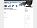 View More Information on Page One Technologies Pty Ltd