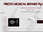 View More Information on Presto Musical Repairs Pty Ltd