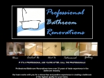 View More Information on Professional Bathroom Renovations