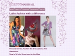 View More Information on Sharee Marshall Fashion Centre