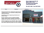View More Information on Simax Engineering Pty Ltd