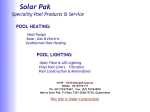 View More Information on Solar Pak