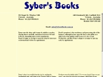 View More Information on Syber's Books, Windsor