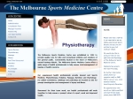 View More Information on The Melbourne Sports Medicine Centre, Melbourne