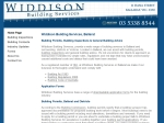 View More Information on Widdison Building Services