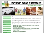 View More Information on Windsor Craig Solicitors