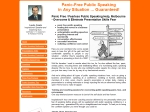View More Information on Panic-Free Public Speaking Pty Ltd