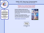 View More Information on easy-fit fencing components