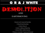 View More Information on GR & J White Demolitions