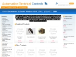 View More Information on Automation Electrical Controls