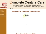 View More Information on Complete Denture Care