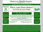 View More Information on Allmowers Mobile Repairs