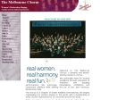 View More Information on The Melbourne Chorus Of Sweet Adelines
