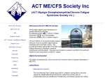 View More Information on ACT ME CFS & FMS Society