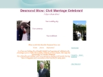 View More Information on Desmond Stow, Civil Marriage Celebrant