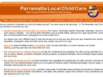 View More Information on Parramatta Child Care Directory