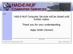 View More Information on Had-E-Nuf Computer Services