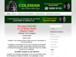 View More Information on Coleman Tyre Company Slacks Creek