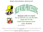 View More Information on MLB Word Processing