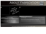 View More Information on About Fabrication