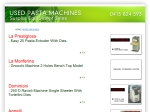 View More Information on Used Pasta Machine
