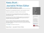 View More Information on KB Freelance - Journalist, Writer And Editor