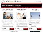 View More Information on Changingtools.Com Public Speaking Training
