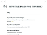 View More Information on Intuitive Massage Training