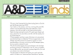 View More Information on A & D Blinds