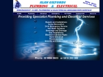 View More Information on Alan Oxford's Plumbing and Electrical Pty Ltd