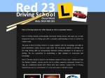 View More Information on Red23 Driving School