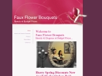 View More Information on Faux Flower Bouquets