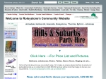 View More Information on Hills & Suburbs Party Hire