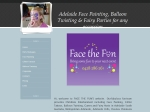 View More Information on Face the Fun Face Painting