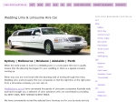 View More Information on Wedding Limo Sydney