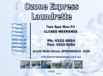 View More Information on Ozone Express Laundrette