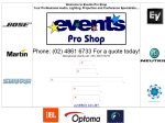 View More Information on Events Pro Shop