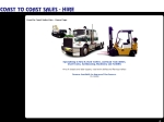 View More Information on Coast To Coast Sales & Hire