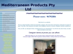 View More Information on Mediterranean Products Pty Ltd