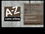 View More Information on A-Z Concreting