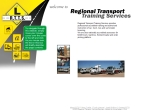 View More Information on Regional Transport Training Service