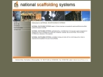 View More Information on National Scaffolding Systems