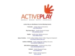 View More Information on Active Play