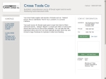 View More Information on Cross Tools Co