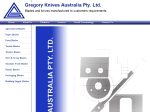 View More Information on Gregory Knives Australia Pty Ltd